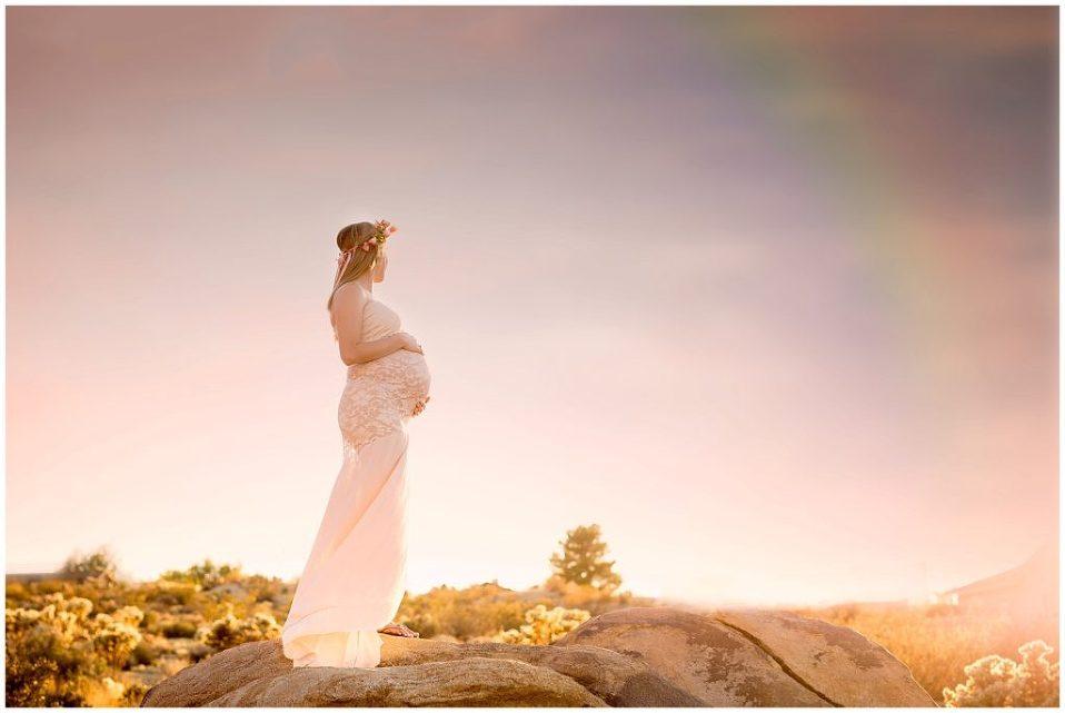rainbow baby maternity session