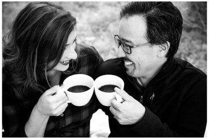 Fun coffee time photography session for couples