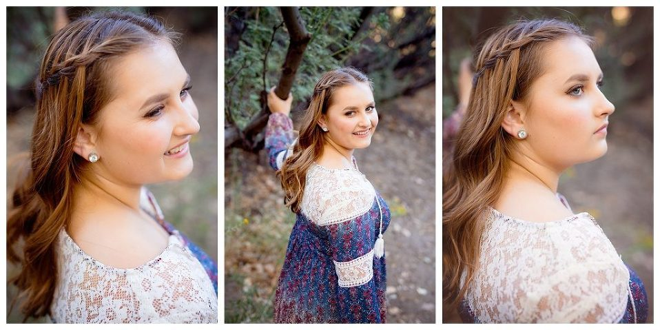 Beautiful hair style for senior portrait session