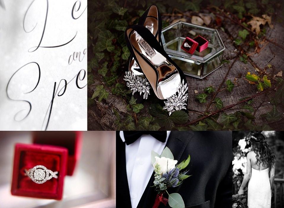 Julian, Sam Allen Creates, Calligraphy, wedding stationary, wedding vows, Julian wedding photographer , wedding details, ring shot, Badgley Mischka, The Mrs. Box, Studio 2053, wedding flowers